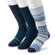 Men's Marc Anthony 3-Pack Thin Stripe Crew Socks
