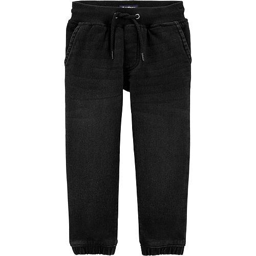 Toddler Boy OshKosh B'gosh® Knit Denim Joggers - Dark Atom Wash