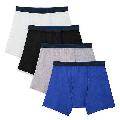 Boys 4-20 Fruit of the Loom Signature 4-Pack Boxer Briefs