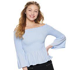 NEW! Juniors' Candie's® Smocked Marilyn Top