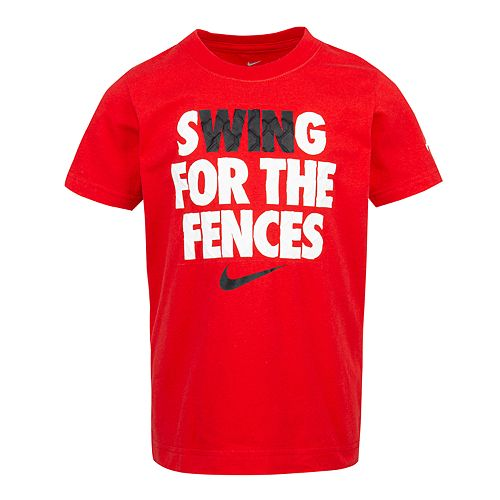 """Boys 4-7 Nike """"Swing For The Fences"""" Logo Graphic Tee"""