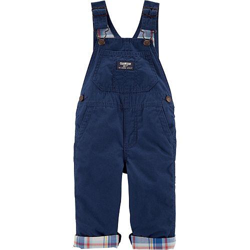 Baby Boy Oshkosh B'Gosh® Plaid Lined Canvas Overalls