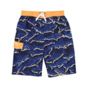 Boys 4-7 Skechers Shark Swim Trunks