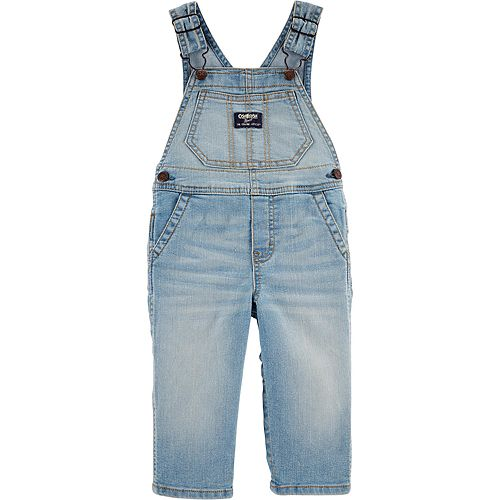 Baby Boy Oshkosh B'Gosh® Sun Faded Light Wash Denim Overalls