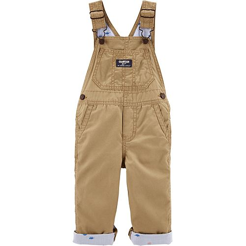 Baby Boy Oshkosh B'Gosh® Dinosaur Lined Canvas Overalls
