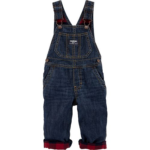 Baby Boy Oshkosh B'Gosh® Flannel-Lined Overalls