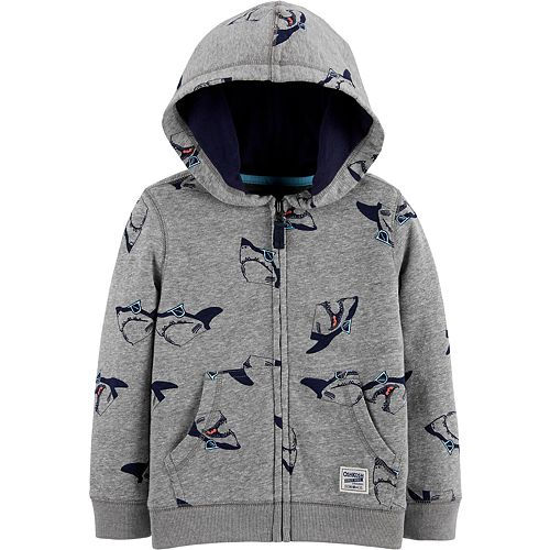 Toddler Boy OshKosh B'gosh® French Terry Shark Hoodie