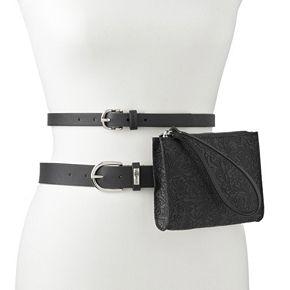 Women's Stone & Company Leather Double Belt Bag Set
