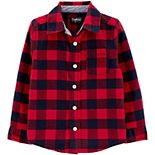 Toddler Boy Oshkosh B'Gosh® Button-Front Flannel Shirt