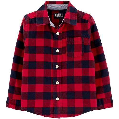 Toddler Boy Oshkosh B'Gosh® Button-Front Flannel Shirt