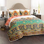 Lush Decor Bohemian Meadow Quilt Set