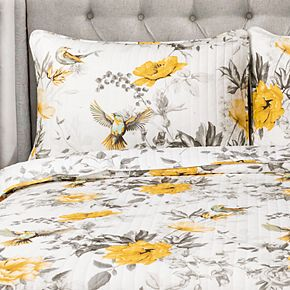 Lush Decor Penrose Floral Quilt Set