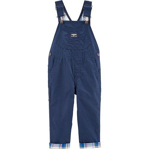 Toddler Boy OshKosh B'gosh® Plaid Lined Canvas Overalls