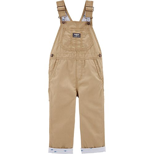 Toddler Boy OshKosh B'gosh® Dinosaur Lined Canvas Overalls