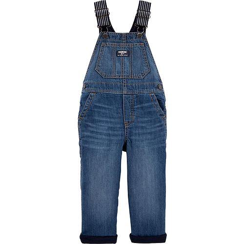 Toddler Boy OshKosh B'gosh® Jersey-Lined Denim Overalls