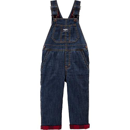 Toddler Boy OshKosh B'gosh® Flannel-Lined Overalls
