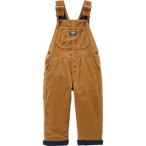 Toddler Boy OshKosh B'gosh® Jersey-Lined Corduroy Overalls