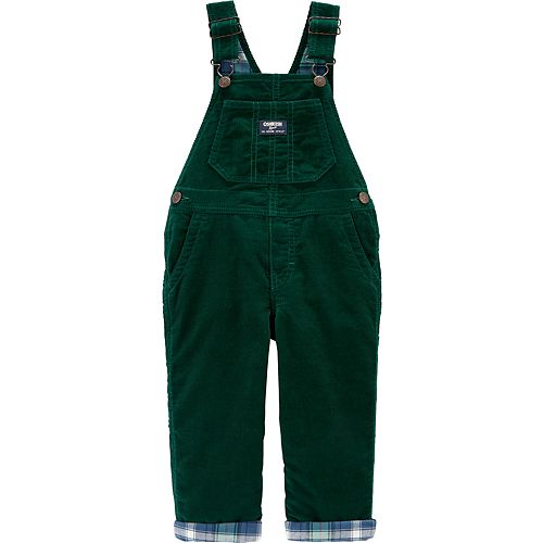 Toddler Boy OshKosh B'gosh® Flannel-Lined Corduroy Overalls