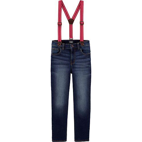 Toddler Boy OshKosh B'gosh® Jersey-Lined Suspender Jeans