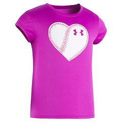Girls 4-6x Under Armour Softball Heart Tee