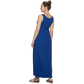 Maternity a:glow Tied-Waist Maxi Dress