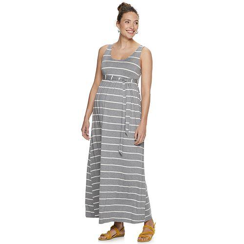 Maternity a:glow Tied-Waist Maxi Dress