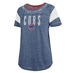Women's '47 Brand Chicago Cubs  Match Sleeve Stripe Tee