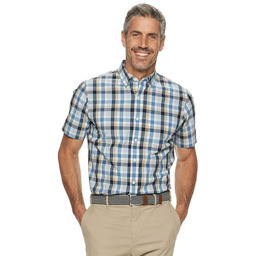 Men's Croft & Barrow® Pattern Slim-Fit Easy-Care Button-Down Shirt