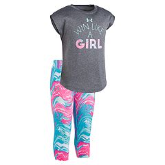 Girls 4-6x Under Armour Win Like a Girl Tee & Leggings Set