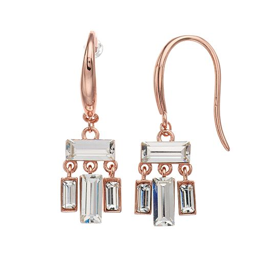 Rectangle Simulated Mother of Pearl Drop Leverback Earrings in Sterling Silver