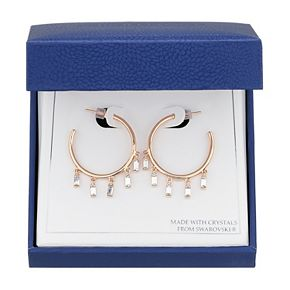 Brilliance Crystal Hoop Earrings with Swarovski Crystals