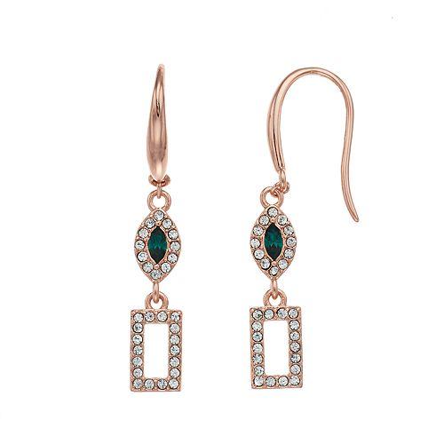 Brilliance Geometric Drop Earrings with Swarovski Crystals