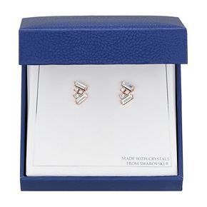 Brilliance Cluster Stud Earrings with Swarovski Crystals
