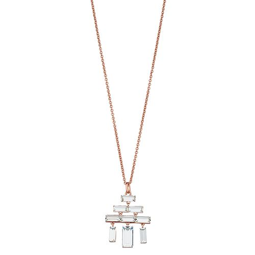 Brilliance Geometric Chandelier Pendant Necklace with Swarovski Crystals