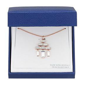 Brilliance Geometric Chandelier Pendant Necklace with Swarovski Crystals