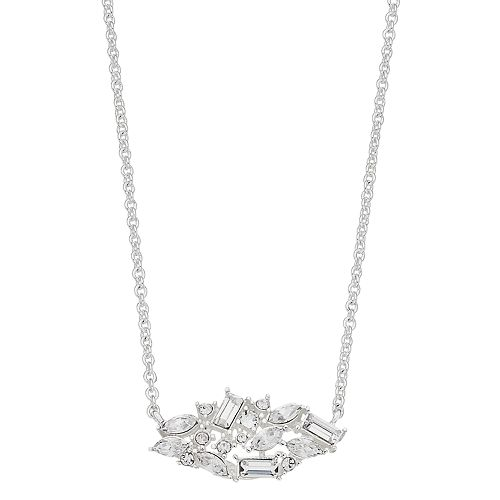 Brilliance Cluster Pendant Necklace with Swarovski Crystals