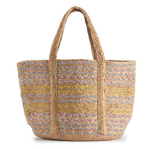 Circus by Sam Edelman Teresa Striped Straw Tote