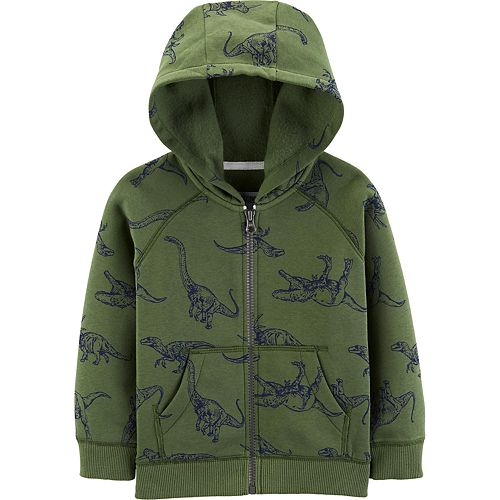 Baby Boy Carter's Dinosaur Zip-Up Fleece-Lined Hoodie