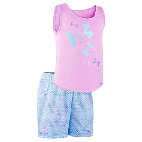 Girls 4-6x Under Armour Logo Tank Top & Shorts Set
