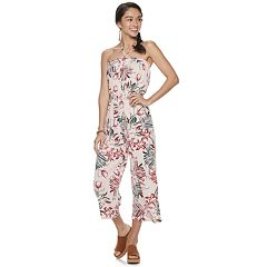 Juniors' Almost Famous Floral Print Jumpsuit