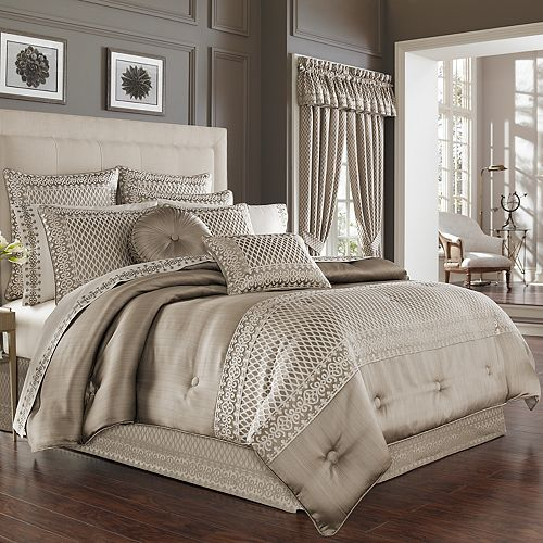 37 West Beaumont Champagne Comforter Set or Euro Sham