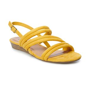 SO® Firebrick Womens' Strappy Heel Sandals
