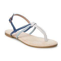 b9e6b0cb73a4 LC Lauren Conrad Cocoa Women s Strappy Sandals