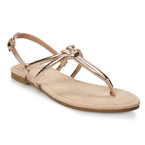 LC Lauren Conrad Cocoa Women's Strappy Sandals