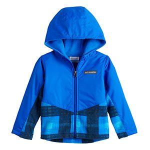 Toddler Boy Columbia Overlap Fleece Hooded Lightweight Jacket