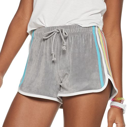 Juniors' SO® Striped Dolphin Shorts