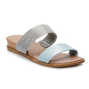 LC Lauren Conrad Mint Women's Slide Sandals