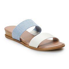 1f989fcf5d36 LC Lauren Conrad Mint Women s Slide Sandals