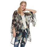 Mudd® Floral Ruffled Kimono