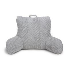 b8f9820918d2 The Big One® Herringbone Cut Fur Backrest Pillow. Gray Blush Periwinkle